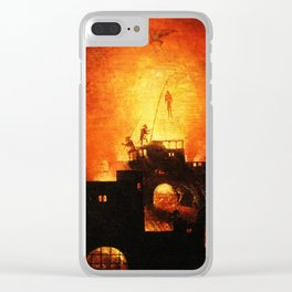 The flaming infurno Clear iPhone Case