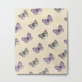 Old butterflies pattern Metal Print