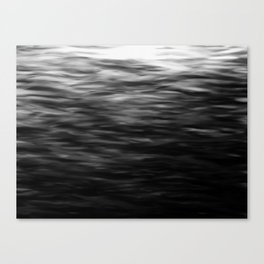 B&W Waves2 Canvas Print