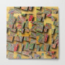 Tiles of Grass Metal Print