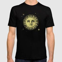 Celestial Antique Sun And Sky Watercolor Batik T-shirt