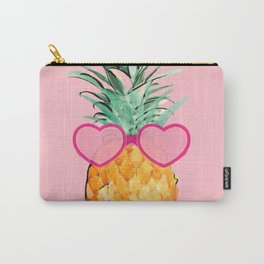 Cool Pinapple with Glasses Carry-All Pouch