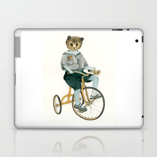 Bear on a Tricycle Laptop & iPad Skin