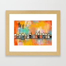 one fine day at the bach Framed Art Print