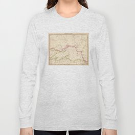 Vintage Map of Lake Superior (1832) Long Sleeve T-shirt