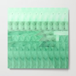 Marble Print Green Metal Print