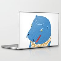 hippo Laptop & iPad Skins featuring Hippo by Jennifer Nystedt