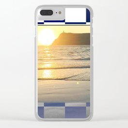 Port Erin - check graphic Clear iPhone Case