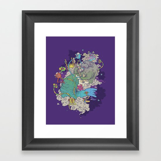 Trip of a lifetime Framed Art Print