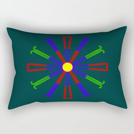 Field Hockey Stick Design Rectangular Pillow