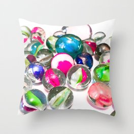 Pink Marbles Throw Pillow