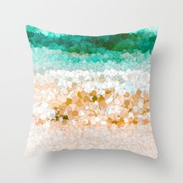 On the beach abstract painting Throw Pillow