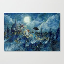 An Awfully Big Adventure - Peter Pan - Nursery Decor Canvas Print