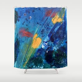 Views of Rainbow Coral, Tiny World Collection Shower Curtain