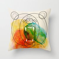 bear Throw Pillows featuring Bear by Alvaro Tapia Hidalgo