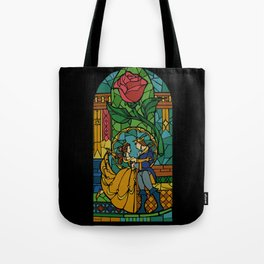 Beauty and The Beast - Stained Glass Tote Bag