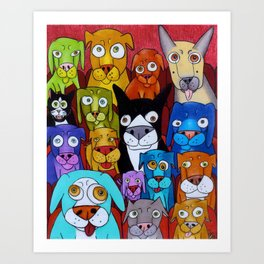 Watching Cats Art Print