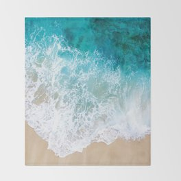 BEAUTIFUL WAVES# Throw Blanket