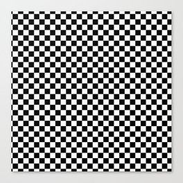 Classic Black and White Race Check Checkered Geometric Win Canvas Print