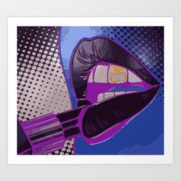 AG Lip Gloss Be Poppin' Art Print
