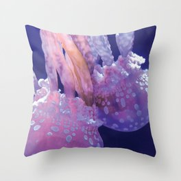 Jellyfish Family (Underwater Photography) Throw Pillow
