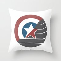 stucky Throw Pillows featuring Stucky by Brittnee-Leigh