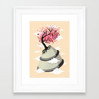 cherry blossom Framed Art Prints featuring Cherry Blossom by Freeminds