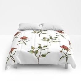 Loose Watercolor Rosebuds Comforters