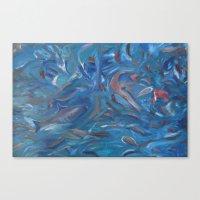 life aquatic Canvas Prints featuring Aquatic by Victoria Bladen