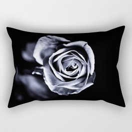 Silver Petals Rectangular Pillow