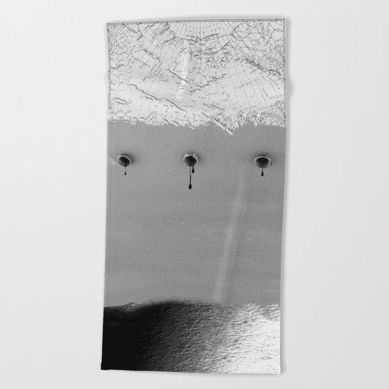 Draining Alaska Beach Towel