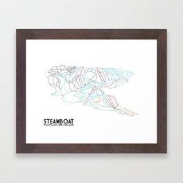 Steamboat, CO - Minimalist Trail Maps Framed Art Print