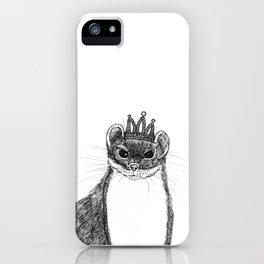 flapper weasel wearing a glittering tiara iPhone Case