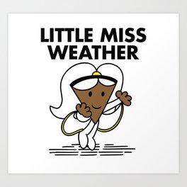 Little Miss Weather Art Print