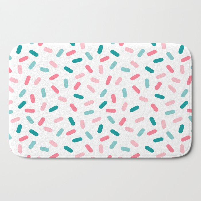 Head Rush - memphis throwback hipster style dot pill 1980s neon pastel palm springs socal surfer Bath Mat