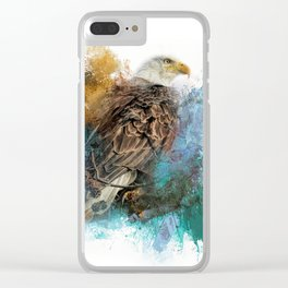 Expressions Bald Eagle Clear iPhone Case