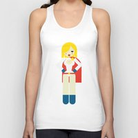 girl power Tank Tops featuring Power Girl by Marco Recuero