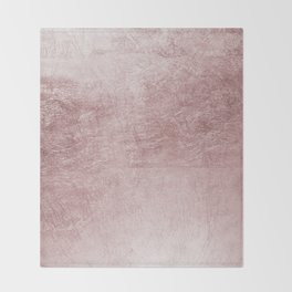 Modern elegant rose pink abstract pattern Throw Blanket