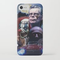 stephen king iPhone & iPod Cases featuring Stephen King by Saint Genesis