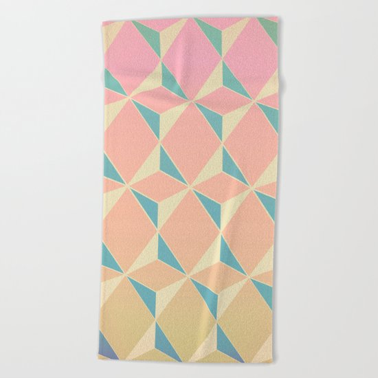 Triangles and Squares XI Beach Towel