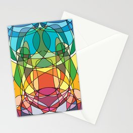 Abstract Curves #4 - Butter Fly Stationery Cards