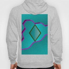 Geometrical fantasy in turquoise ... Hoody