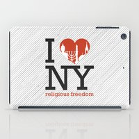 religious iPad Cases featuring Luv New York Religious Freedom by The Mindful