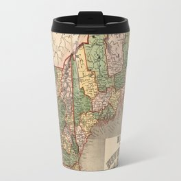 Map of New England 1847 Travel Mug