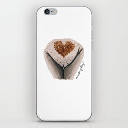 Pubic Heart - Chocolate Brown iPhone Skin