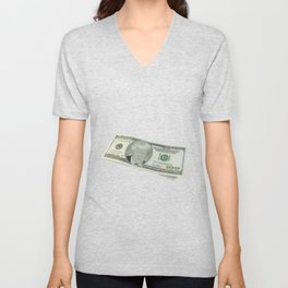 Donald Trump on a One Hundred Dollar Bill Unisex V-Neck
