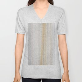Rustic gray gold yellow vintage white marble Unisex V-Neck