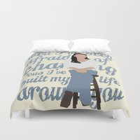 glee Duvet Covers featuring Brittana - Glee - Santana Lopez [Solo] Landslide typography minimalist design by Hrern1313