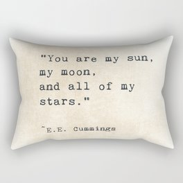 EE Cummings, Sun Moon Stars Quote, Love Rectangular Pillow