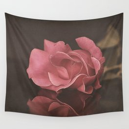 Vintage Rose Reflection Wall Tapestry